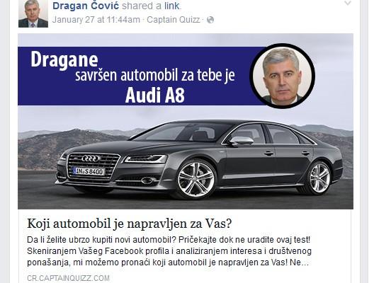 covic i facebook